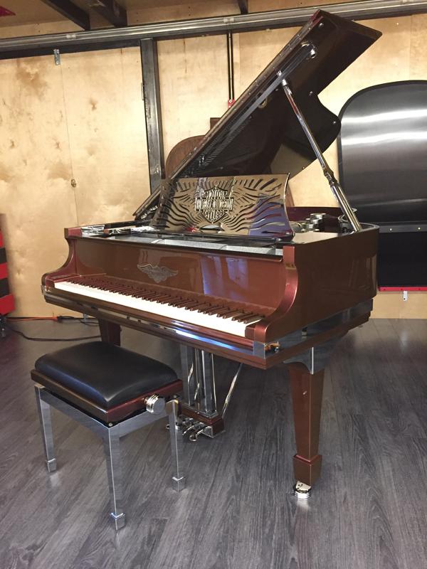 HarleyDavidsonPiano_FullPiano Harley Davidson Custom Piano for Sale!