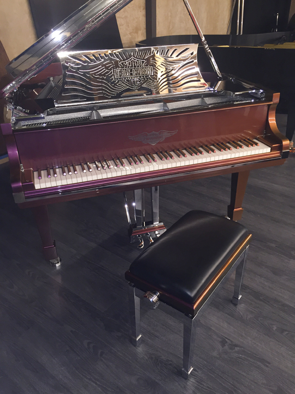 HarleyDavidsonPiano_Set Harley Davidson Custom Piano for Sale!